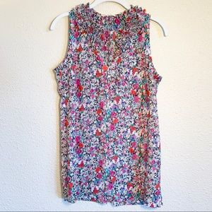CAbi Multi-Color Sleeveless Blouse